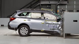 2018 Subaru Outback passenger-side small overlap IIHS crash test