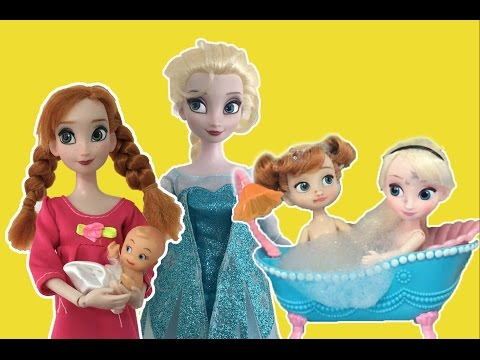 Frozen Full Movie 2 in English! Elsa + Anna Dolls Playing in Snow, Baby, Bath time +More