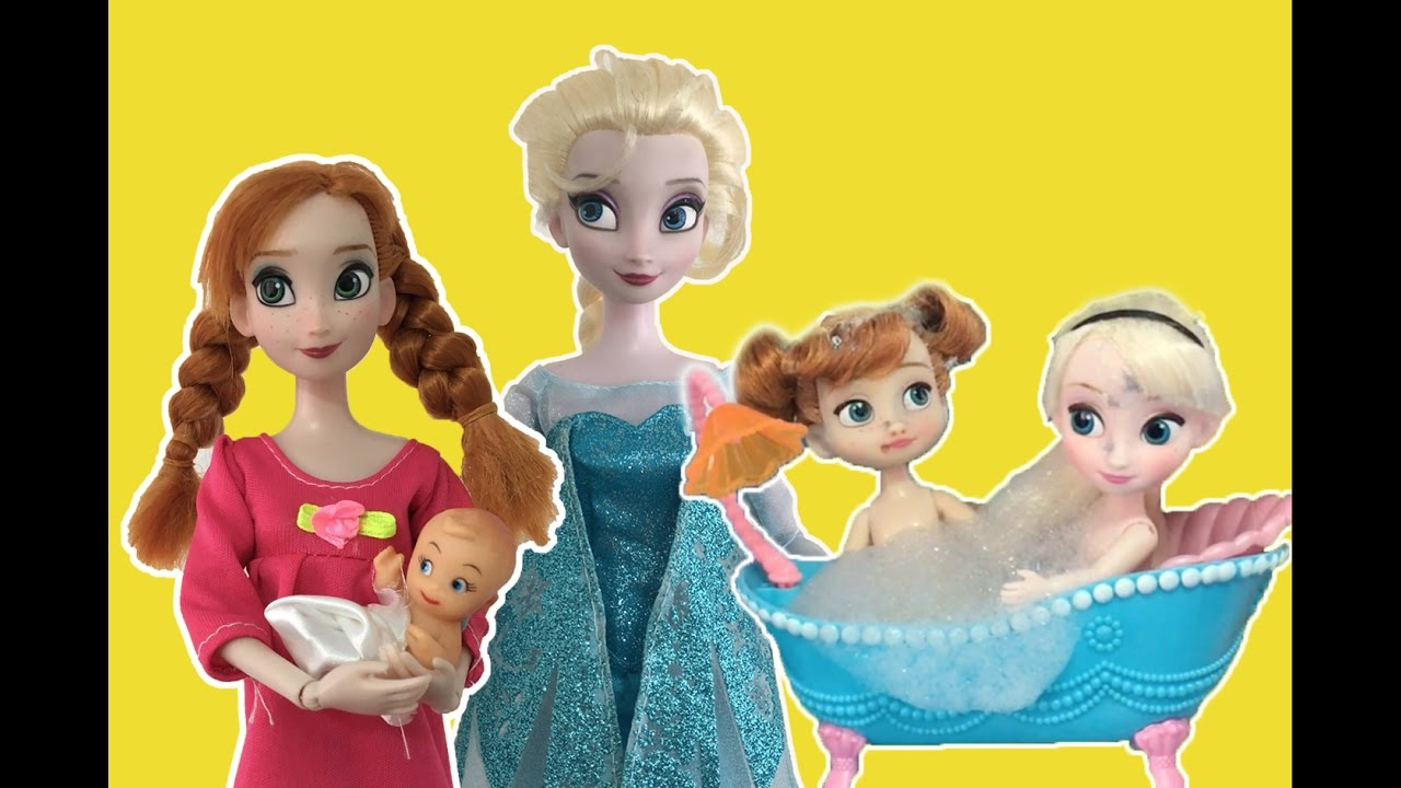 Baby Dolls Playing Youtube Frozen Full Movie 2 In English Elsa Anna Dolls Playing