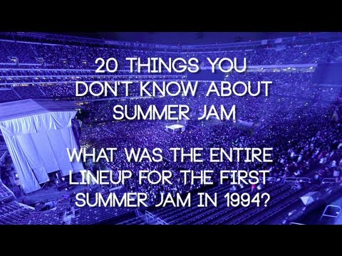 What was the artist lineup for the First Summer Jam?