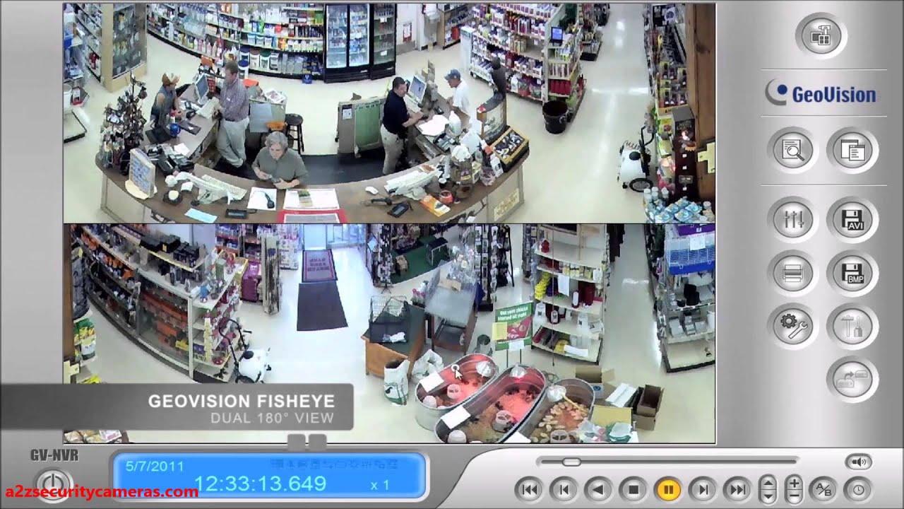 Geovision 360 Fisheye Dome Ip Camera Demo Retail Store