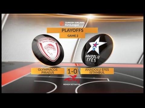 «Анадолу Эфес» вырвал победу у «Олимпиакоса» и сравнял счёт в серии