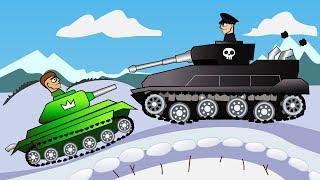 МОЩНОЕ ТАНКОВОЕ СРАЖЕНИЕ Битва Зимой Мультик игра про ТАНКИ hills of steel