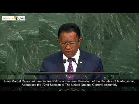 Madagascar - President Addresses the 72nd Session of The United Nations General Assembly