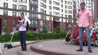 Вячеслав Осадчий из Хотьково на митинге в посаде