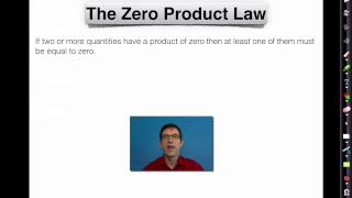 Common Core Algebra I.Unit #8.Lesson #6.The Zeroes of a Quadratic