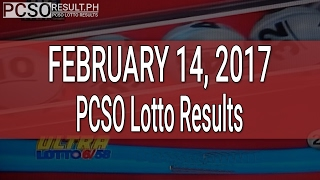 PCSO Lotto Results February 14, 2017 (6/58, 6/49, 6/42, 6D, Swertres & EZ2)
