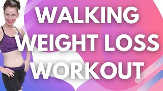 35 MINUTE  WORKOUT| 1 MILE POWER WALK & BODY WEIGHTED WORKOUT| INDOOR WALKING ROUTINE | AFT