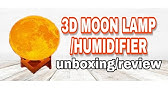 880ml Air Humidifier 3d Moon Lamp Light Oil Diffuser Youtube