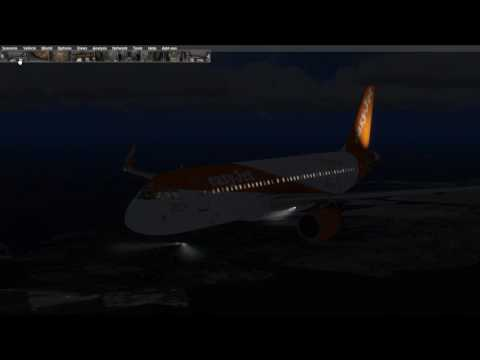 A320 Bad Weather Landing At Bremen With Sparketron