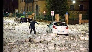 ITALIEN: Hagelsturm in Rom richtet Verkehrschaos an