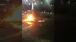 Car explodes in gas station Laredo Tx
