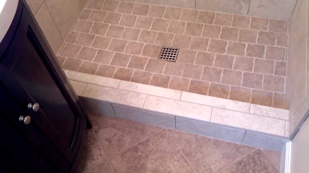 Install a tile shower in a small bathroom youtube Install tile shower