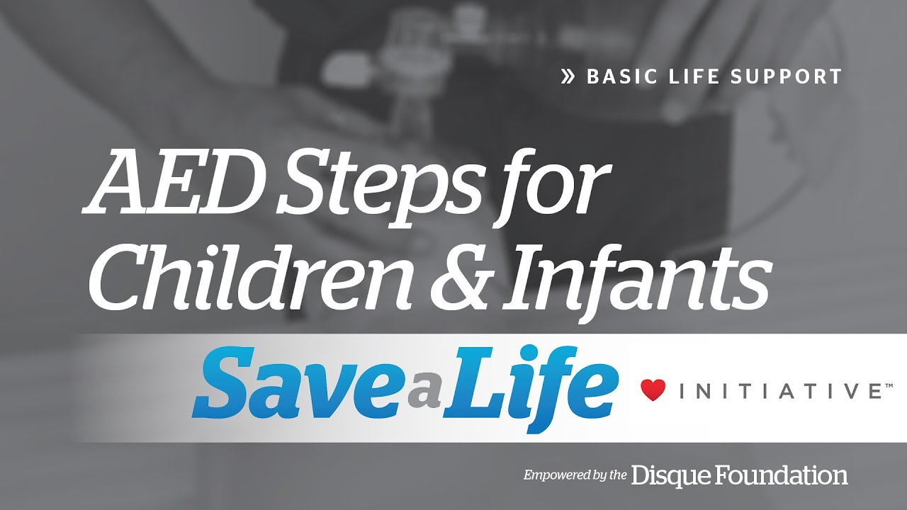 Aed Automated External Defibrillator Steps For Infants Children