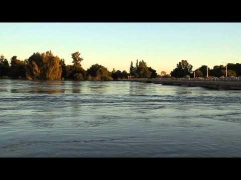 Orange River Flood Water under Upington Bridge