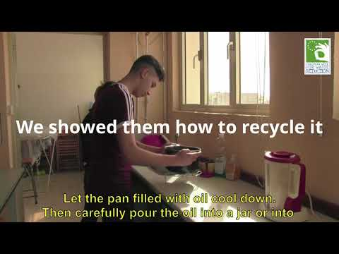 Recycling waste cooking oil - ALP School Malta feature EWWR Final Ceremony