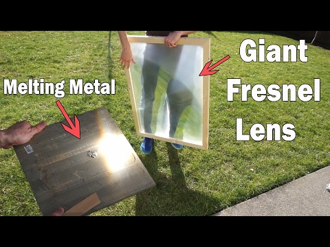 2,000°F Solar Power! Melting Metal With A Giant Magnifying Glass