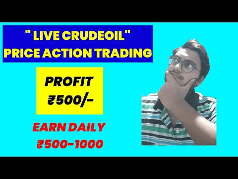 LIVE CRUDE OIL PRICE ACTION TRADING || SIMPLE LOGIC || LIVE TRADE