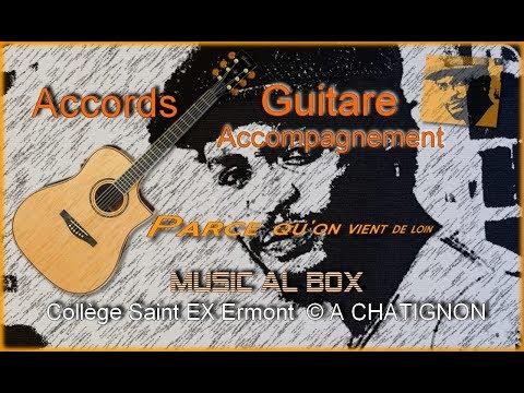 Accompagnement guitare sur Ibanez AWS1000ECE  Parce qu'on vient de loin Corneille  (Collège)