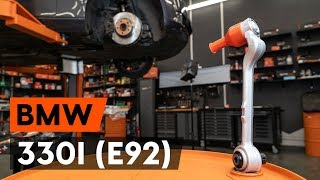 Montage Draagarm achter en vóór BMW 3 Coupe (E92): gratis video
