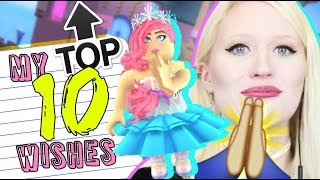 Top 10 Things I NEED in ROYALE HIGH 👑