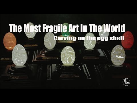 The Most Fragile Art In The World - Carving on the egg shell | More China