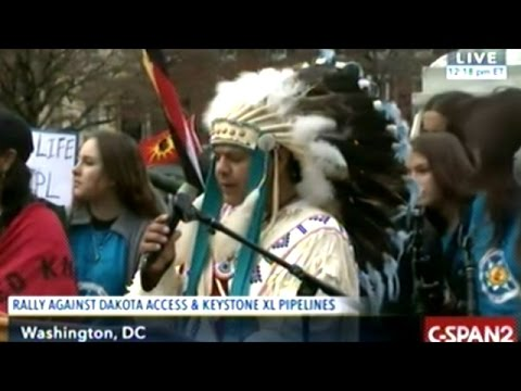 Standing Rock Sioux Tribe Hold Pipeline Protest At White House!