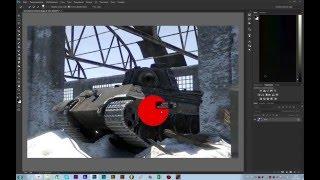 урок 1  Проба пера. (Обработка скриншота War Thunder в Photoshop.)