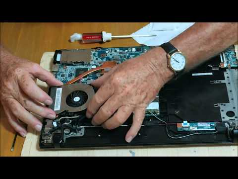 Sony Vaio Laptop Repair ~ Overheating, Wifi Card, CMOS Battery, & HDD Video 2 Of 2