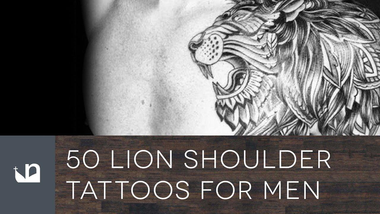 50 lion shoulder tattoos for men youtube