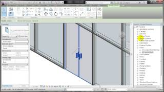 REVIT: Placing a door in a curtain wall