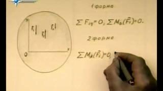 § 5.4. Равновесие плоской системы параллельных сил