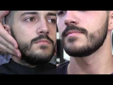 Tutorial de barbería: Arreglo de barba corta con ritual.