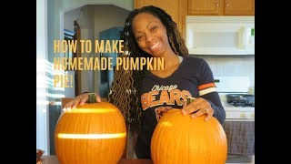 How to make FRESH pumpkin pie! with Lexi
