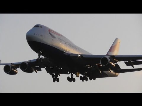Early Morning Plane Spotting at London Heathrow Airport, LHR - Heavies Only