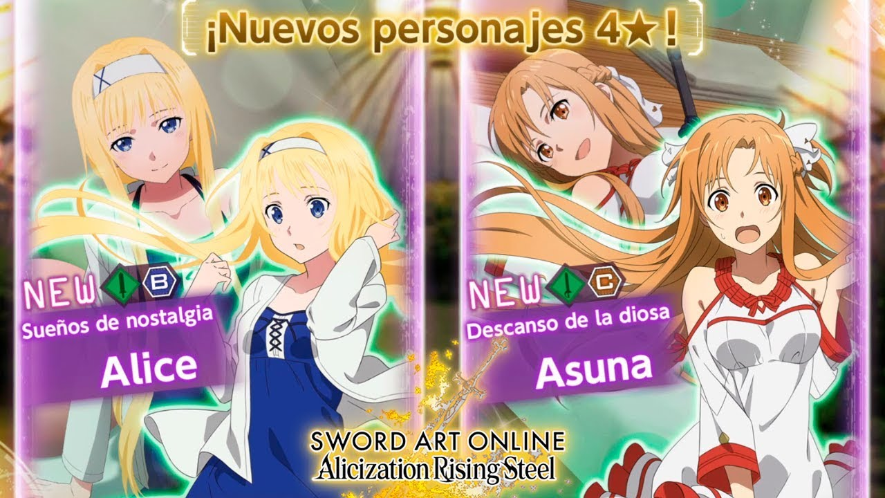 Nuevo Personaje Alice Asuna Fiesta De Chicas Sword Art Online Alicization Rising Steel Youtube