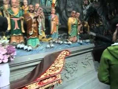 The Numerous Statues at a Buddhist Temple in Hangzhou, China