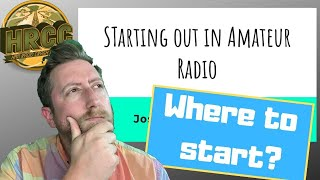 How To Start Out In Ham Radio