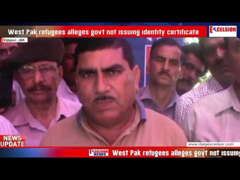 West Pak refugees alleges govt not issuing identity certificate