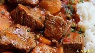 Receta: Carne Estofada riquísima y económica! (Easy beef stew) - LaCocinadera