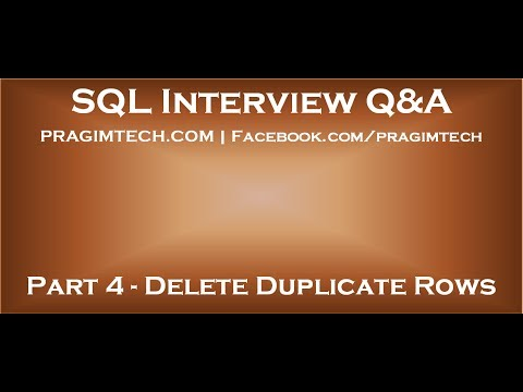 How to delete duplicate records in two table in sql server