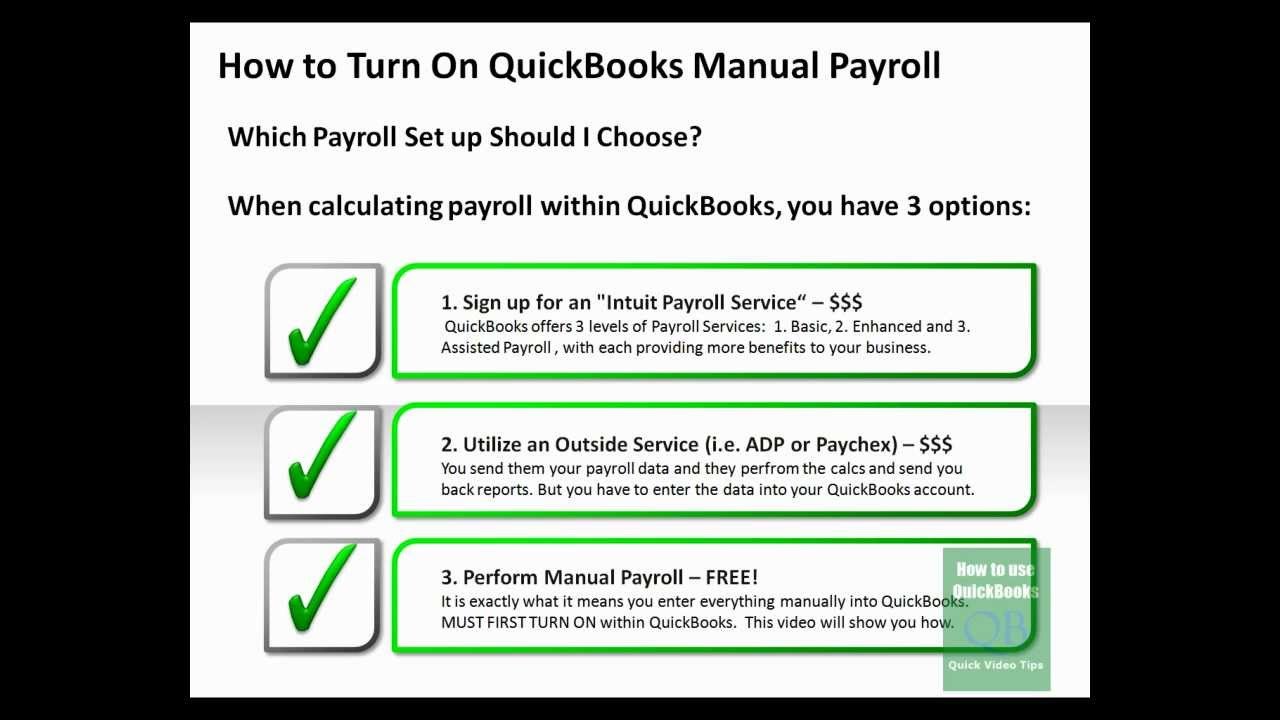 How to Turn on QuickBooks Manual Payroll