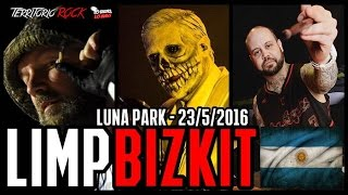 LIMP BIZKIT en el Luna Park 23/5/2016 (previo, hotel)   Territorio Rock