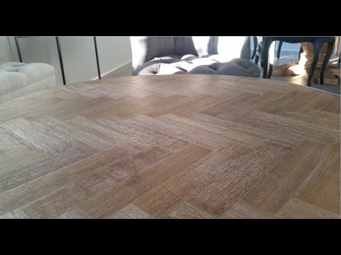 The Small Reno Project FURNITURE: DIY Oak Parquetry refurbishing a Kmart Table