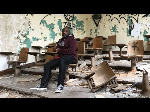 Urban Exploration of the Abandoned and Decaying Caroline Crosman/Hutchins Middle School In Detroit