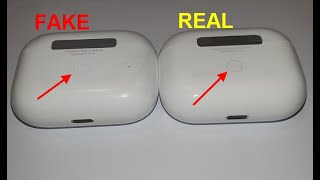 Airpods pro real vs fake. How to spot counterfeit / clone Apple air pods