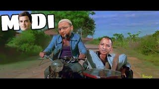 Modi Sholay | Ft.Owasi,Yogi,Rahul Gandhi | Spoof Xerox