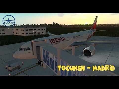 X-Plane 11 | IVAO | Tocumen - Madrid | Long Haul World Tour '18 | Iberia A330-200 [GER | ENG]