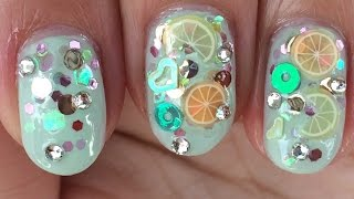 Kawaii  Summer  Refreshing Nail  Art Design Fimo Juicy Fruits
