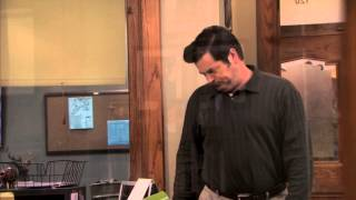 ron swanson awkwardly comforts april ludgate